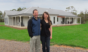 The Helmrichs owner built their own Paal steel frame kit home at Little Hartley, just west of the Blue Mountains in NSW, saving over $100,000 in builders fees.